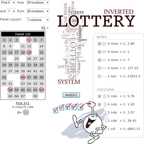 Winslips lottery system screenshot